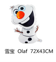 Wholesale Frozen Olaf balloons ballons halloween party Foil Helium Balloon Birthday Party Wedding Decoration Supplies Kids children girls Gift Toys