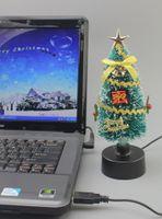 Wholesale Christmas Decorations USB battery Powered Multi Color LED Miniature Christmas Xmas Tree PC MAC Gift Christmas tree light