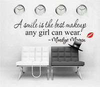 best gift stickers - Lady Gift A Smile Is The Best Makeup Any Girl Can Wear Marilyn Monroe Quote Wall Decal Sticker Decor