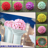 big kiss - 30 CM quot Artificial Flower Rose Silk Kissing Balls Big Size Flowers Ball For Christmas Ornaments Wedding Party Decoration New Arrival