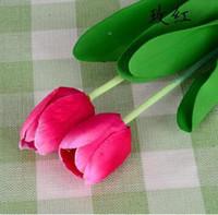 Wholesale 20pcs cm Length Artificial Silk Flowers Tulip House Decoration Wedding Party Garden centerpiece Adornment wd009