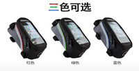 Wholesale colorful Outdoor quot Cycling Frame Tube Panniers Waterproof Touchscreen Phone Case Reflective Bag Outdoor Cycling Front Tube pannier Bag