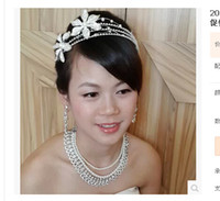Wholesale 2014 Korean bride crown headdress frontlet sets of chain between the eyebrows fall bridal hair accessories wedding accessories New Promotion