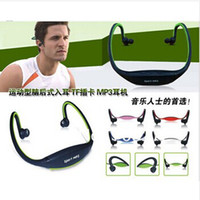 Cheap New Earphone Sports MP3 WMA Music Player Wireless Handsfree Headset With TF Slot Support 1-8GB micro card Freeshipping 50pcs lot