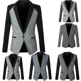 Wholesale High Quality Autumn Men Blazer Casual Slim Fit Mens Blazer Jacket Outwear One Button Suits Men Coat Leisure Small Coat Clothing