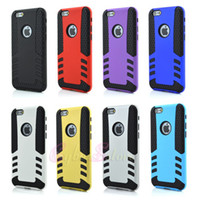 Wholesale iphone Plus Rocket Design Rubber Defender Hybrid Cover Hard Rubber Gel Case For IPhone6 inch