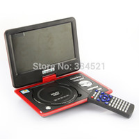 Wholesale New inch Portable DVD VCD CD MP3 MP4 Player TV Red US Fast Shipping MP0267