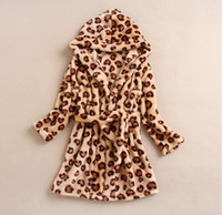 bath goods - New Arrival Winter Children Bath Robe Flannel Printing Kids Homewear BathRobes Style Good Quality WD250