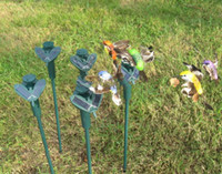 solar Hummingbirds - 2014 New Solar hummingbirds butterflies garden toys students enlightenment educational toys solar and battery combo