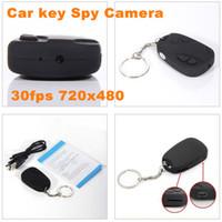 Wholesale Free DHL Car Key keychain Mini Spy Cam Camera DV Motion Detection Video HD Webcam DVR Camcorder video recorder fps x480