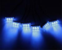 led blue strobe light - 18LED Car Strobe Light x3 LED Fire Flashing Light Blinking LED Strobe Lamps Emergency Car Light Blue Red Yellow White White yellow Red blue