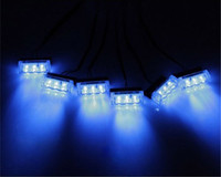 Wholesale 18LED Car Strobe Light x3 LED Fire Flashing Light Blinking LED Strobe Lamps Emergency Car Light Blue Red Yellow White White yellow Red blue