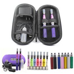 Métal cas ecig en Ligne-Ego CE4 + kits doubles Starter kit de cigarettes électroniques CE4 plus atomiseur 650/900 / 1100mah Batterie 2 e Cigarettes ecig dans Zipper Case YA0004