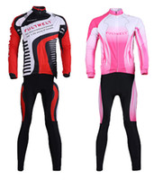 Wholesale For lovers Cycling Clothing Set Sportswear Bicycle Bike Outdoor Long sleeve Jersey Long Pants Breathable H11979 H11981