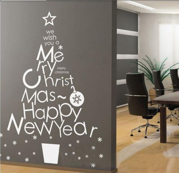 Free DHL Window Wall Sticker Art Fashion Merry Christmas Tree Home