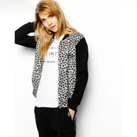 bb baseball - Jaqueta Feminina Regular Casacos Femininos fashion Women s bomber Long sleeve baseball Jacket Leopard Bombers coat bb