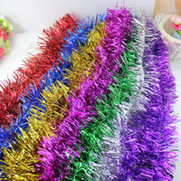 Wholesale 2 m supply all kinds of Christmas ornaments for Christmas wedding celebration holiday decoration garland new Liangsi color bar