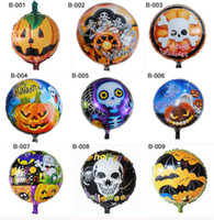 halloween decorations pumpkin - Halloween Skull Ghost Balloons Pumpkin Head Balloon Decoration Balloon Aluminum Film Balloons for Party Home Festival x45cm CW0306