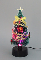 Wholesale Golden Christmas Tree Party Decoration lighted Christmas Crafts Festive Party Supplies Christmas Decorations Holiday Decorations DHL Free