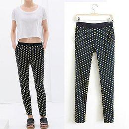 Wholesale Hot Selling new women s pants High Quality European style Dot casual zipper feet Pants
