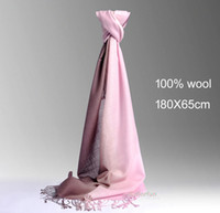Wholesale Brand new lady wool scarf wool women scarf wool shawl twin colors very nice and soft