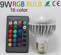 rgb led price - color changing Factory outlet Low price AC V RGB LED Lamp W E27 led Bulbs led Lamps with Remote Control led lighting