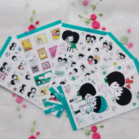 Wholesale Korean diary Deco sticker hip hop into the sweet sets a set of zhang