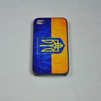 Wholesale Retro Ukraine National Flag Hard Back Cover Case for iPhone S Front Protector Screen Protective