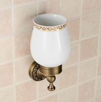 Wholesale Factory Supply Antique Soild Brass Eurpean Style Carving Toilet Brush Holders
