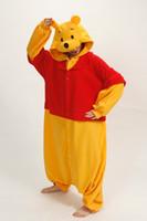 Wholesale Halloween Costume Winter Autumn Winnie the Pooh Kigurumi Pajamas Animal Suits Cosplay Outfit Adult Garment Cartoon Jumpsuits Unisex Animal