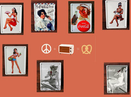 Wholesale 2014 fashion cm dream lover drink girl tin Sign Coffee Shop Bar Restaurant Wall Art decoration Bar Metal Paintings