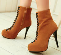 Cheap leather boot Best boots high heels
