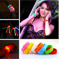 Big Kids bar items - 8 colors LED Lighted Toys flashing bracelet for Party Bars Pub Concert Beautiful items led blinking bracelets Frozen A822