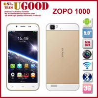 Cheap Wholesale - Original ZOPO ZP1000 MTK6592 Octa Core Mobile Phone 1GB RAM 16GB ROM 5.0 Inch HD IPS Android Cell Unlocked Smartphone 14.0MP GPS
