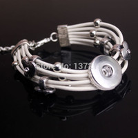 Wholesale Fashion New Interchangeable silver gold chain bracelet ginger snap mm button bracelet jewelry