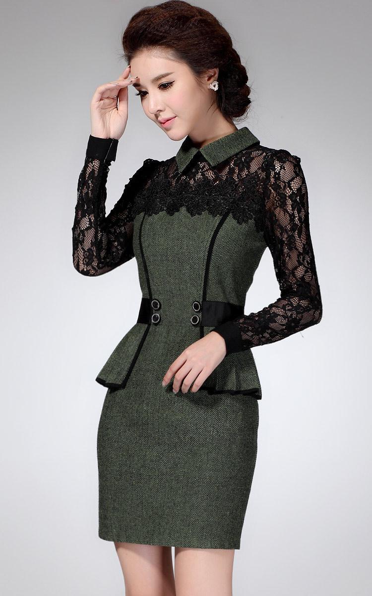 Фото черного платья с отделкой