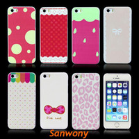 Cheap Free shippng&wholesale!2014 New Arrival Cheap Fashion Painted Various Pattern Phone Hard Back Skin Case Cover for iPhone 5 5S