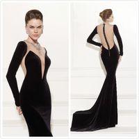 Cheap Vestido de Prom dress Evening Dresses Festa Black Tarik Ediz Salomon Parfum Dress to Party Prom dress a2500