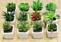 Wholesale 10pcslot ZAKKA mina Simulation Succulents Plants Succulents Mini Decorative Artificial Flowers For Home Decor