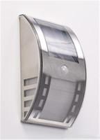 2014 Новый дизайн настенный светильник Солнечная энергия Водонепроницаемый СИД датчика солнечной энергии напольный светильник Открытый Настенные светильники Прожектор сад двор свет