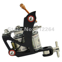 Wholesale Black High performance Stamping Carbon Steel Frame Wrap Coil Dual coiled Tattoo Machine guns