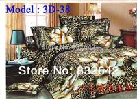 Cheap Leopard Bedding sets 3D Home Textile 4PCS Bed Linen Comforter Set Bedding For Home Luxury Duvet Cover Bedsheet Pillow Case Queen
