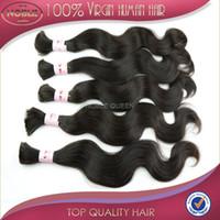 Wholesale Virgin Peruvian Hair Bulk Extension Body Wave Braiding Human Hair without weft bundles