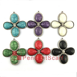 12PCS LOT New Style Jewelry Pendant Scarf Accessories Charm Resin Metal Flower Scarf Pendant 6 Colors Mixed, Free Shipping, AC0318