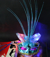 Wholesale Factory outlets new butterfly mask dance performances flash rain Ms mask