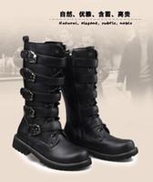 mens boots - Punk Rock MENS BLACK GOTH PUNK ROCK BAND BUCKLE BOOTS Cowboy boots