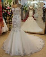 Wholesale New Arrival vestido de novia Wedding Dresses Sweetheart Crystal Beads Rhinestone Sequins Bridal Party Dresses Sweep Bling Custom Made
