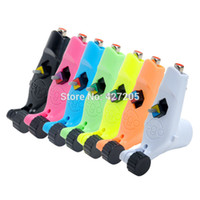 Cheap Wholesale-Newest EGO Magpie Plastic Cement Rotary Motor Tattoo Machine Gun Liner and Shader 7 Colors U-pick Free Shipping