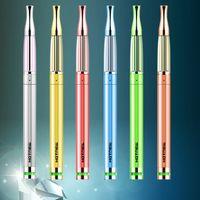 Wholesale App S1 HOTNEW Mini eGo E Cigarettes Stainless Steel eGo Battery Ecig Atomizer Food Grade PIPE Degree LED Indicator Colors Optional