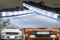 Cheap Car Truck Van Daytime Running Lights Head Lamp White 8 LED DRL Daylight Kit Hot QSJ093